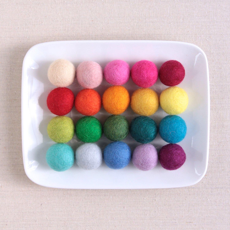 Felt Pom Poms 3cm Felt Balls By Benzie By Benziedesign On Etsy