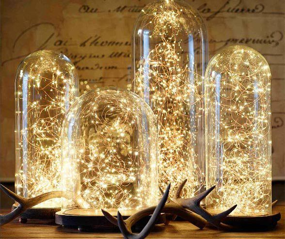 10 unbelievably creative wedding centerpiece ideas 1 ethereal 10 unbelievably creative wedding centerpiece ideas 1 ethereal fairy lights junglespirit Gallery