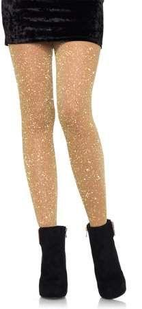 516e2ba804c16 Leg Avenue Women's Lurex Sparkly Shiny Glitter Footed Tights, 3 Pairs, Gold  $13.50, Walmart