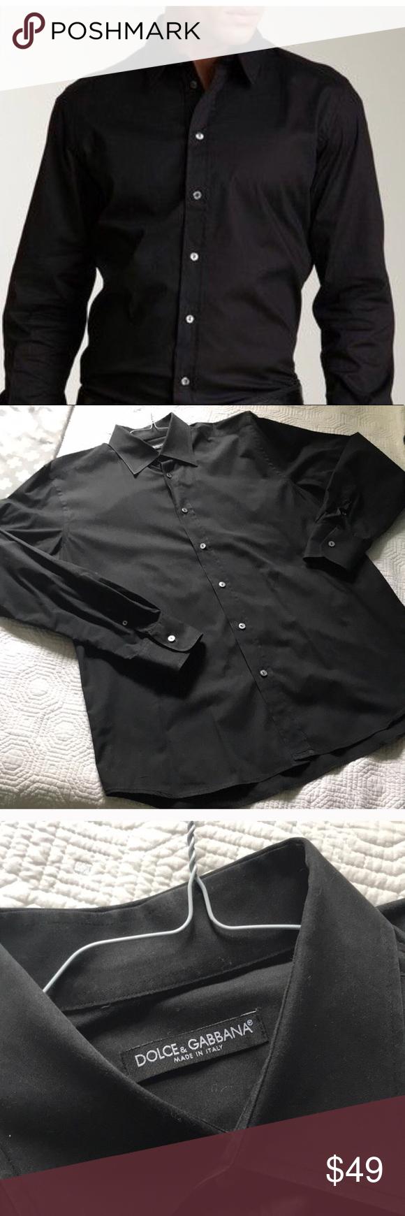 Men S Dolce Gabbana Button Down Dress Shirt Dolce And Gabbana Shirts Dolce And Gabbana Black Shirt Dress [ 1740 x 580 Pixel ]