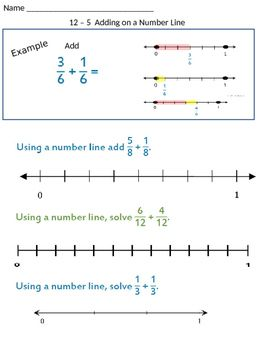 These Worksheets Give Students A Chance To Visually Add And Subtract Fractions With Common D Subtracting Fractions Adding And Subtracting Fractions Number Line Fractions on number line worksheet for