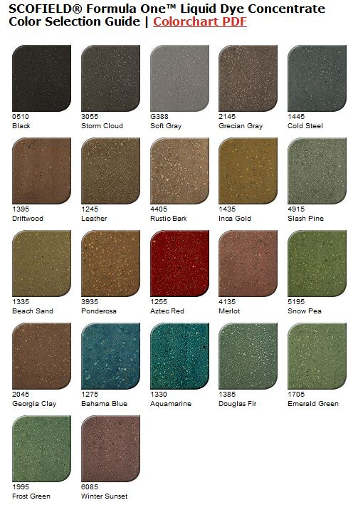 Pin On Concrete Dye Color Charts