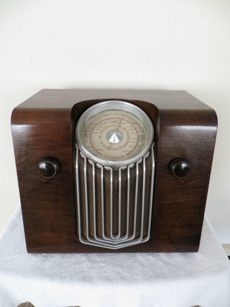 vintage 1937 schaub lorenz german art deco old depression. Black Bedroom Furniture Sets. Home Design Ideas