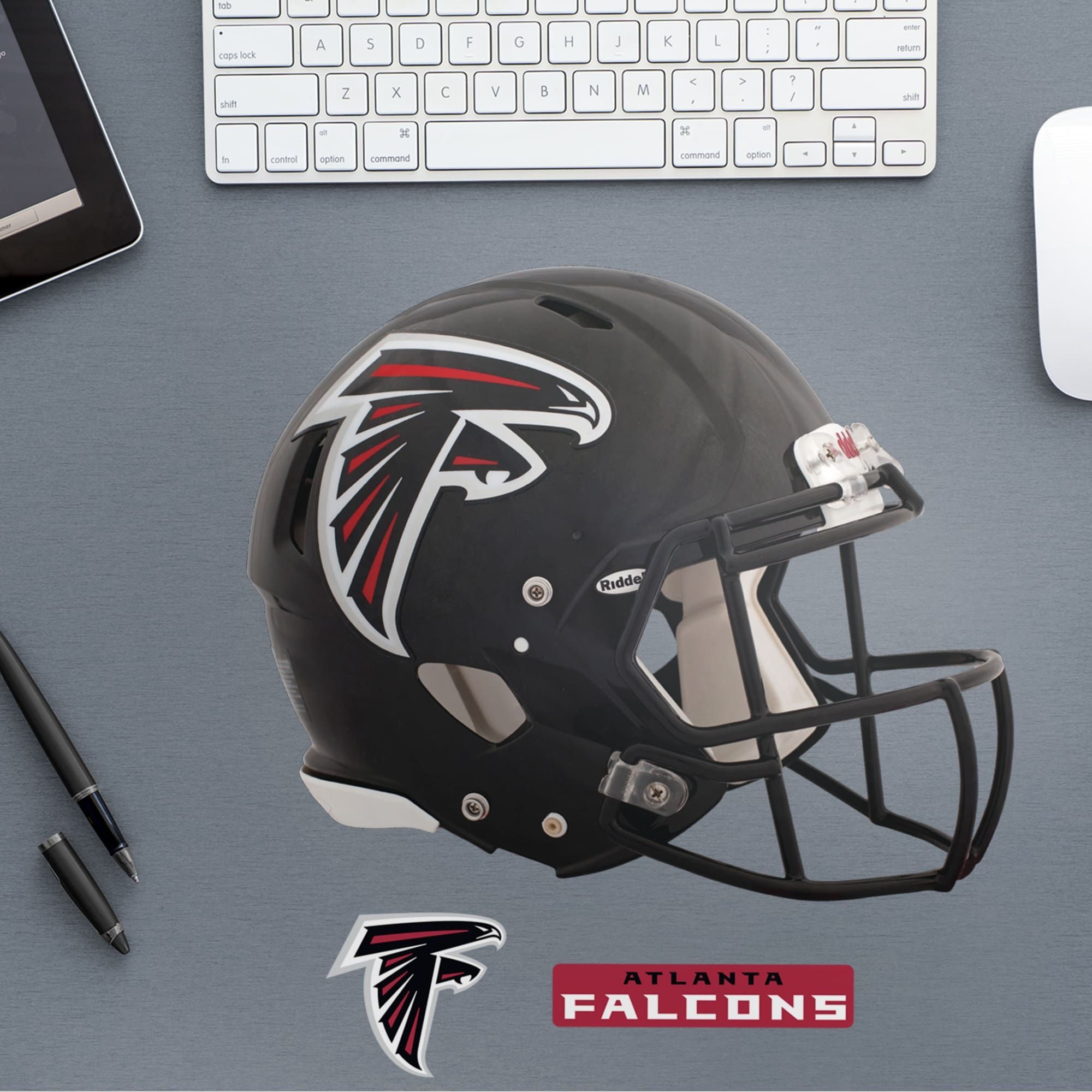 Atlanta Falcons Helmet Huge Officially Licensed Nfl Removable Wall Decal In 2020 Removable Wall Decals Atlanta Falcons Removable Wall