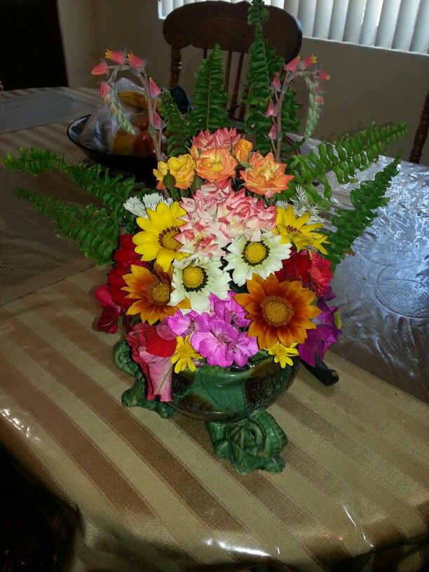 Made my own flower arrangement for my mom