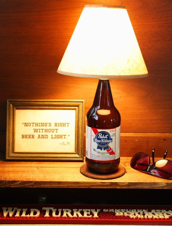 Exceptional Pabst Blue Ribbon Beer Bottle Lamp Light FREE US By BrewLamps, $45.00