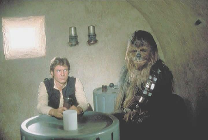 "retrostarwarsstrikesback: "" Han Solo and Chewbacca inside"
