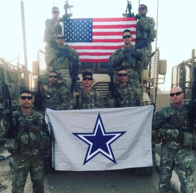We have a HUGE game coming up tonight, and we have a group of diehard Cowboys fans that are currently deployed in Afghanistan that are rooting our Cowboys on! Thank you guys for everything you do! #LetsGoCowboys #WelovetheTroops #CowboysNation #ArmyStrong