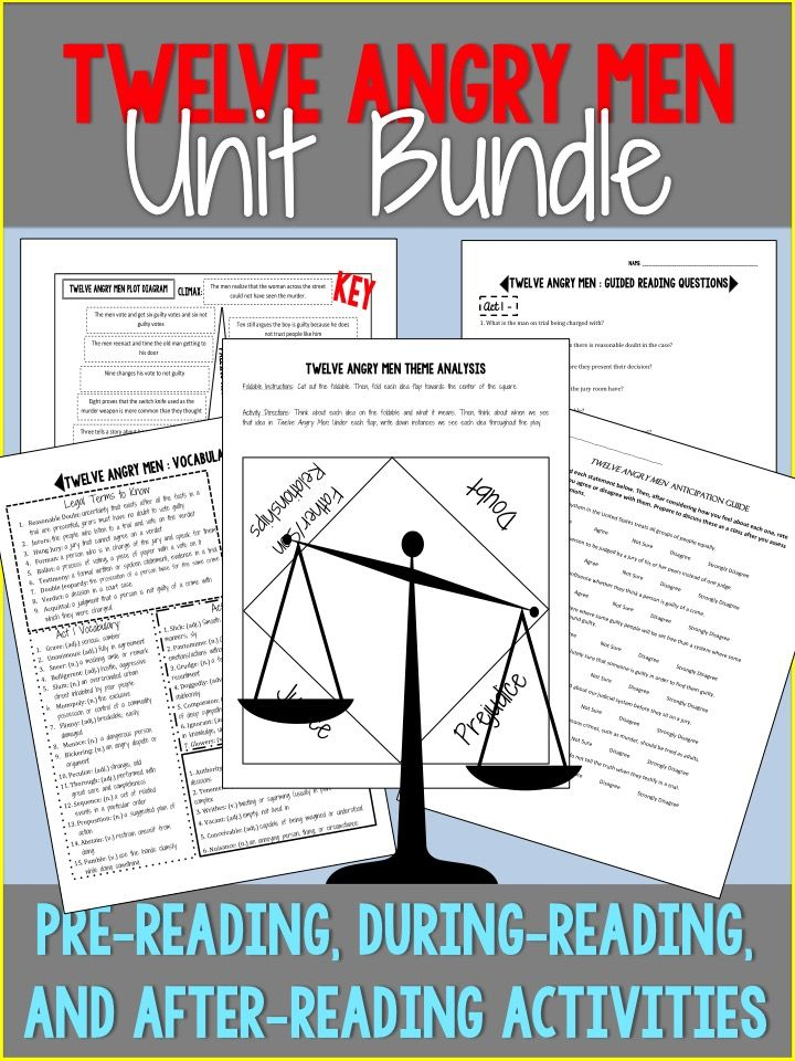 Twelve angry men unit bundle middle school pinterest critical activities included anticipation guide vocabulary terms reading questions critical thinking activity theme analysis foldable plot diagram puzzle ccuart Gallery