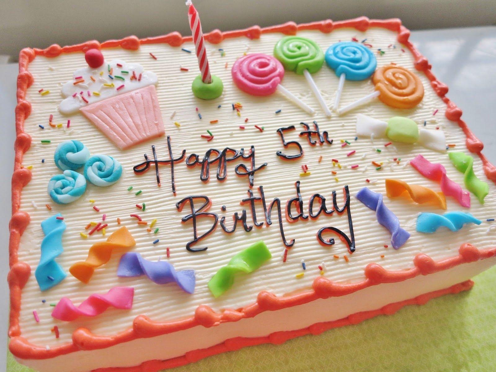 Dolcelli Food Specialties Rectangular Birthday Cakes