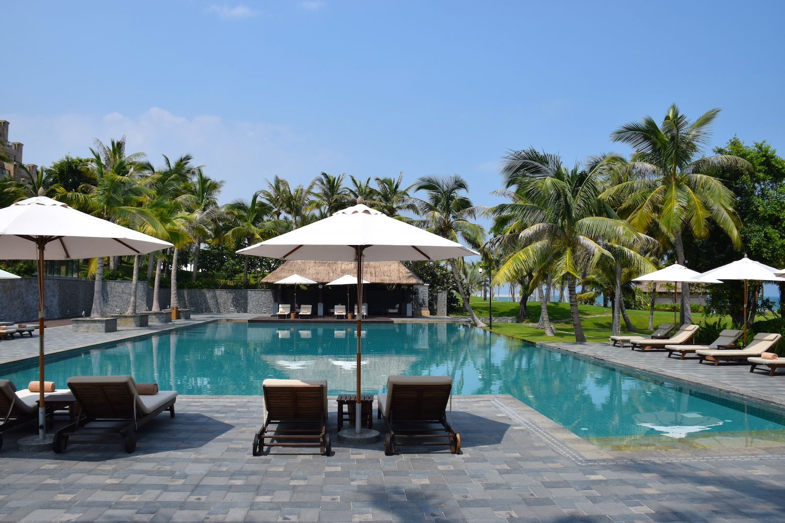 The pool at the Raffles Hotel Hainan in China. TWWT