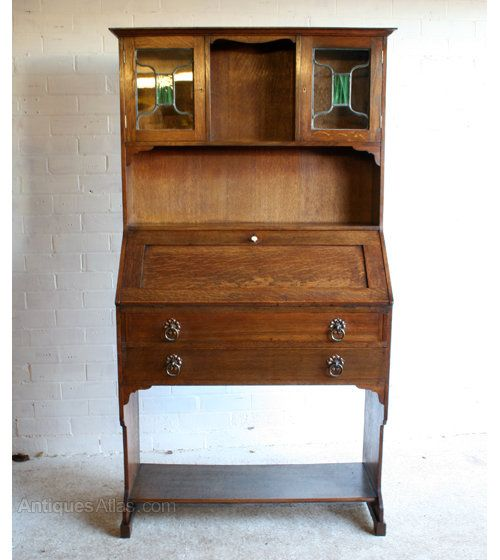 Arts U0026 Crafts Oak Bureau Bookcase   Antiques Atlas