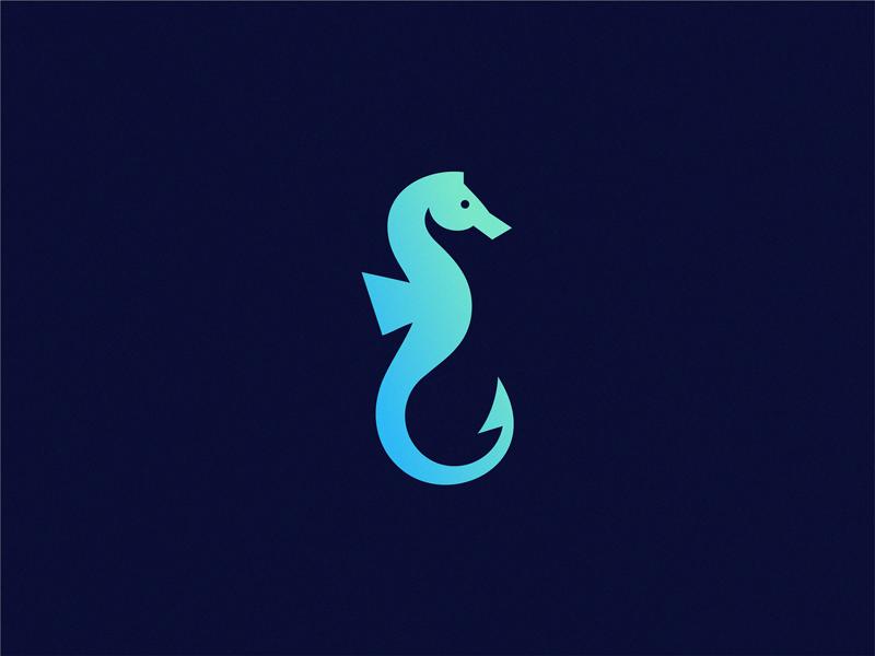 Sea Horse Hook Graphic Design Books Seahorse Sea Logo