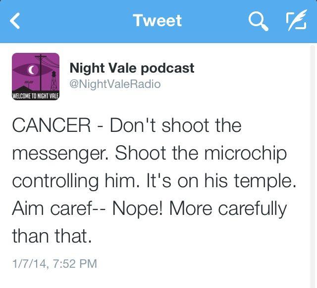 NightVale Tweets Horoscope CANCER