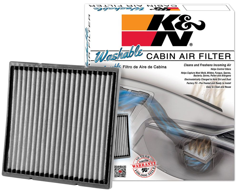 Genial Ku0026N Washable, Replacement Cabin Air Filter