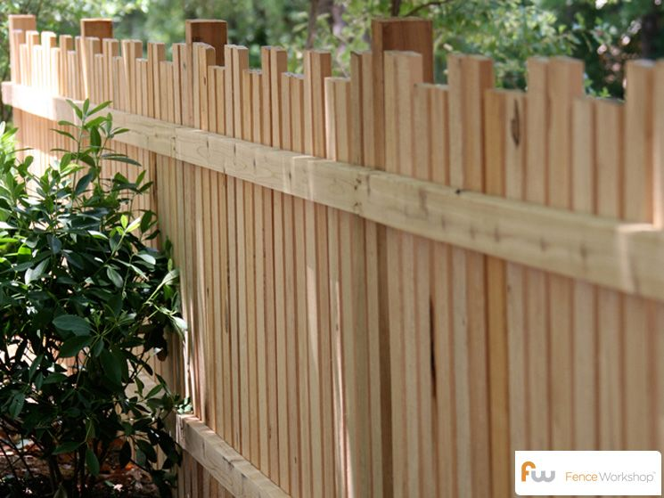 Picket Fencing With Alternating Picket Height Fence Picket Wood Picket Fence Wood Fence Design Fence Design