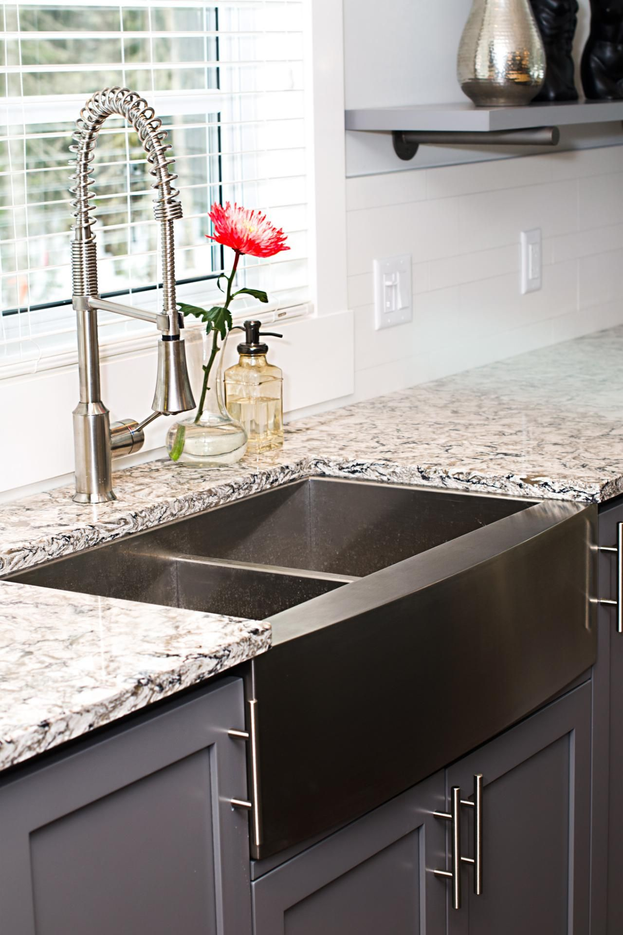 black stainless steel sink Photos HGTV Stainless