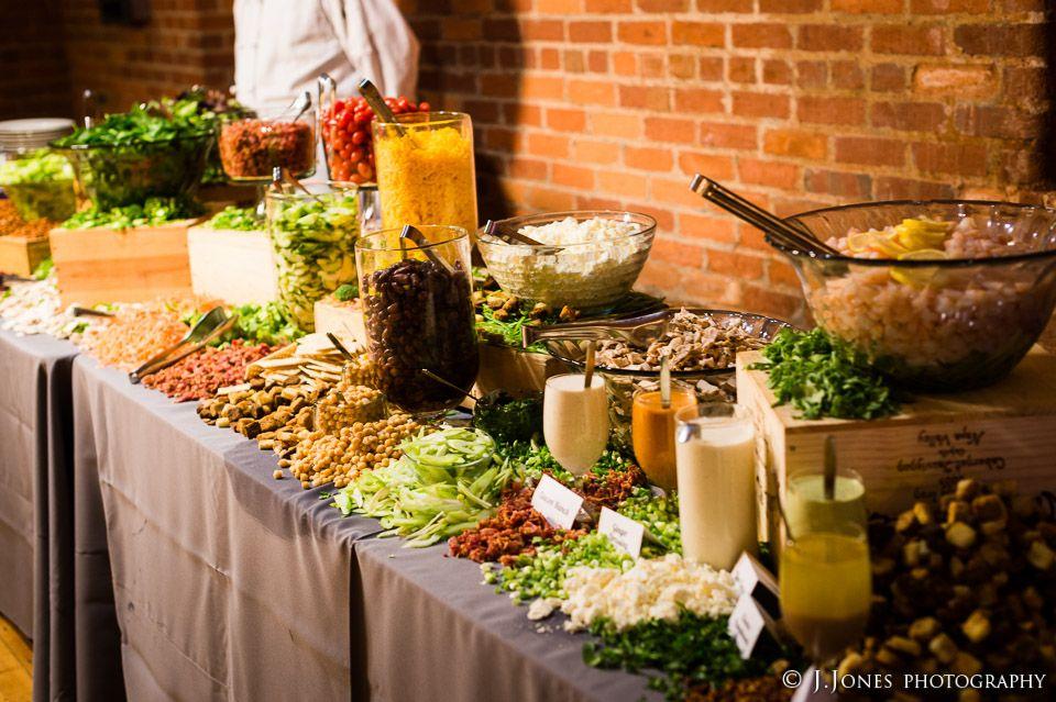 Table 301 catering salad bar salad bar pinterest for Food bar catering