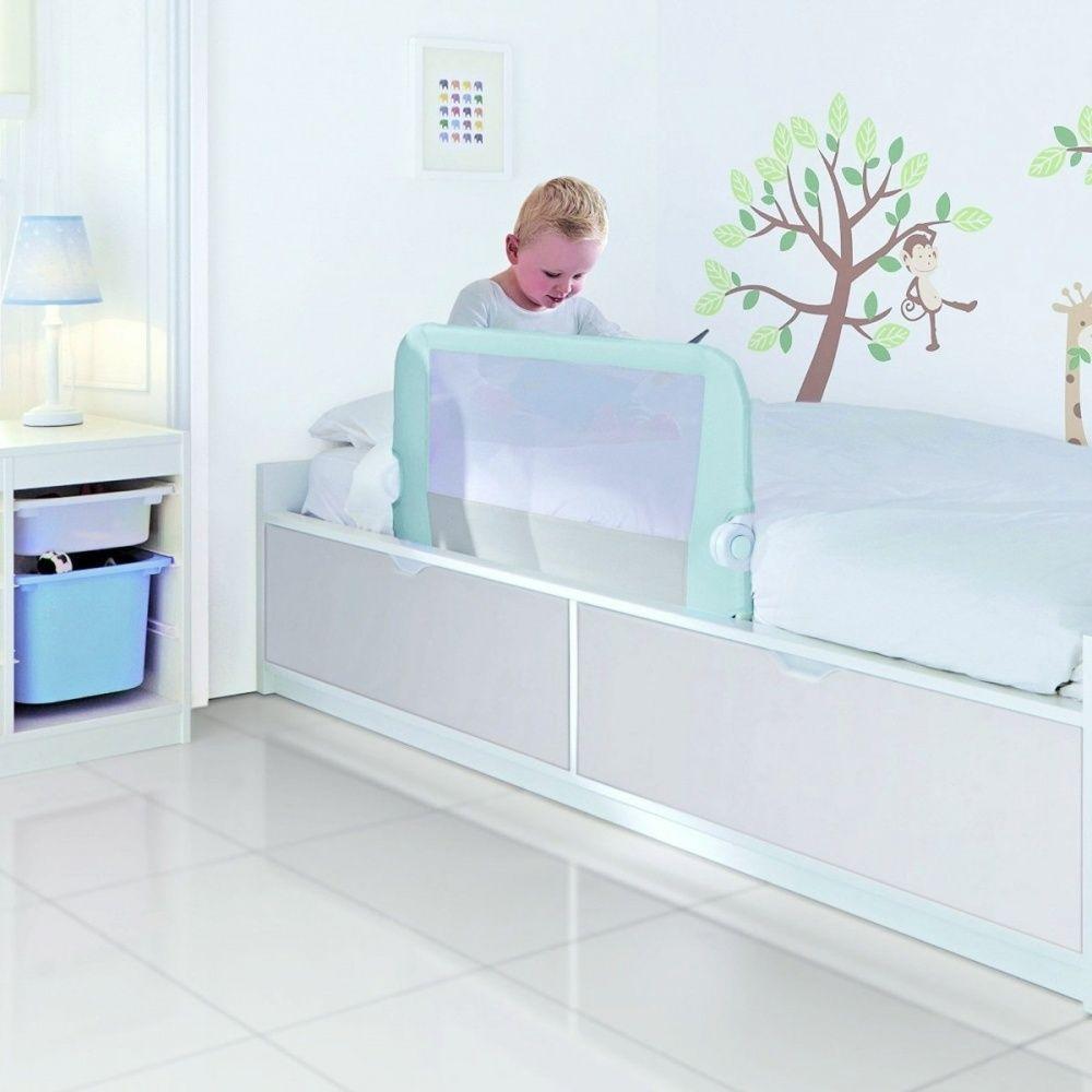 Lindam toddler easy fit bed guard rail blue blue bedding