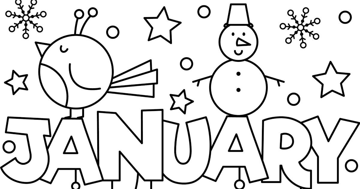 Free Printable January Coloring Pages For Adults di 2020