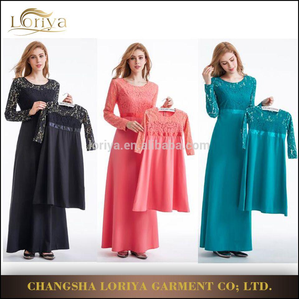 1a787f9a3e5 2017 Hot sale muslim kids abaya wholesale long sleeve arabic girl s abaya  children abaya family dress