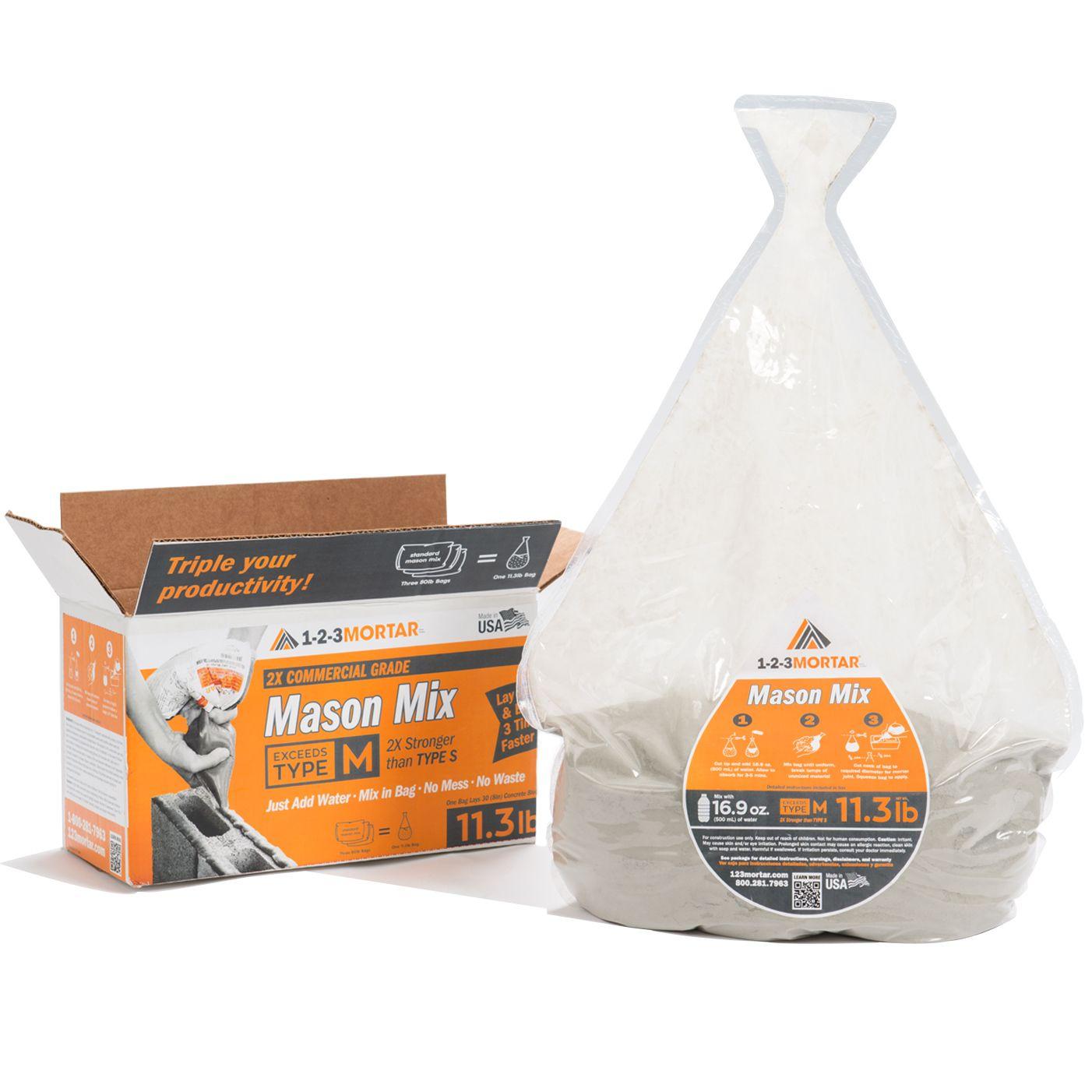 Type M Mortar Mason Mix Ready To Use Just Add Water Mortar Mason Grade