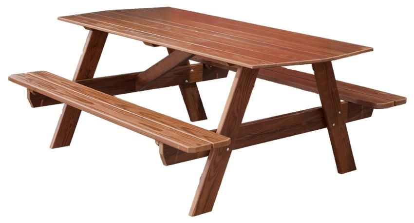 Amish Cedar Wood 6 Picnic Table Resistant To Outdoor Elements The