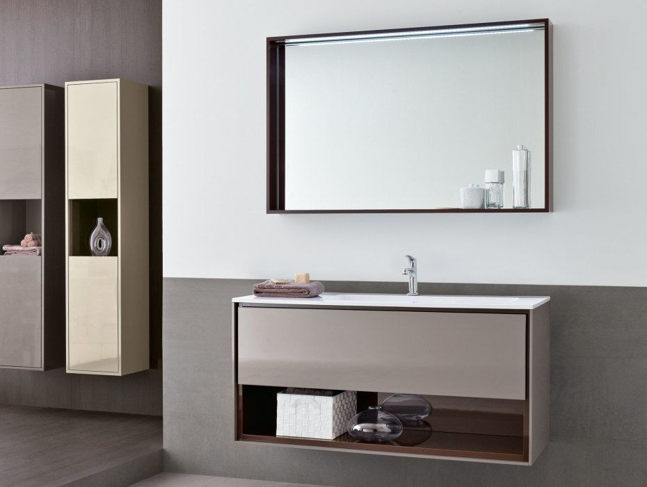 Luxurious Grey Wooden Floating Vanity Having White Granite Countertop And Low Multifunctional Shelves Combined Solid Side Support With Bathroom Vanity Sinks  And Vanity Bathroom Sinks , Best Collections IKEA Vanities Bathroom With Granite Countertops: Bathroom, Furniture, Interior