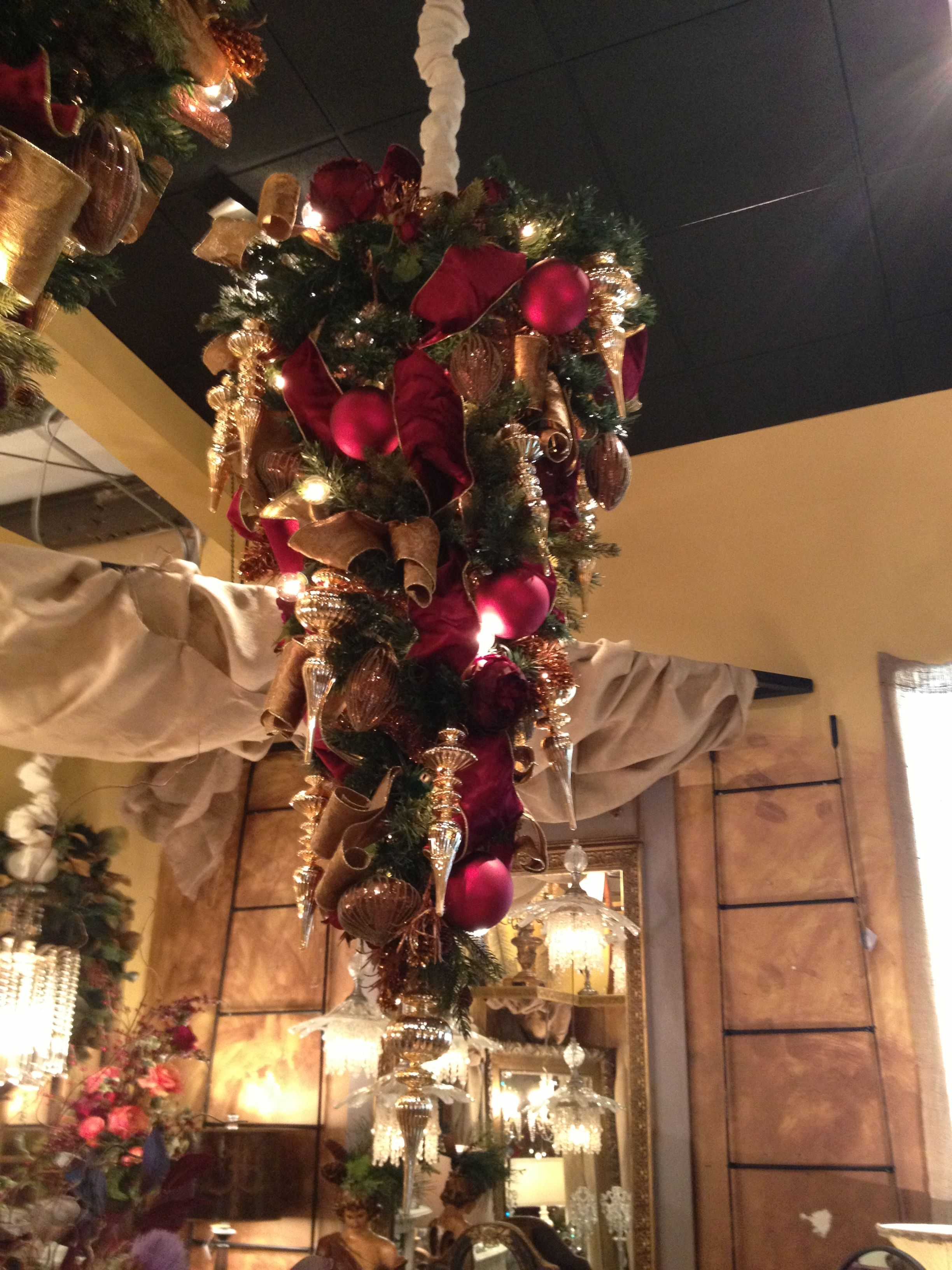 Reinvent The Christmas Tree And Hang It From Your Ceiling