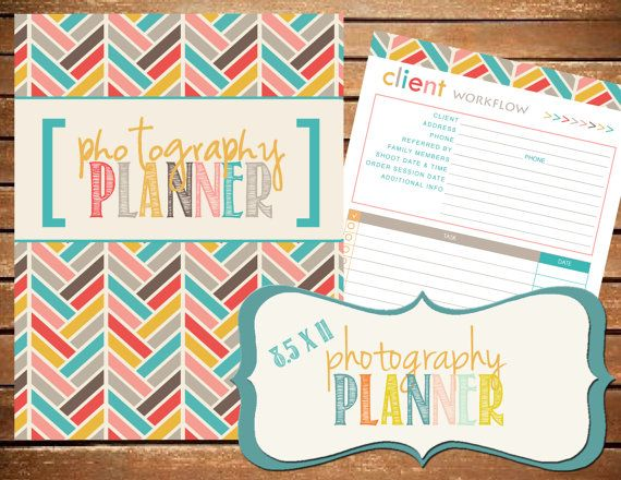 Photography Planner Printable By BreezyOrganization 1500 Photographer AWESOME