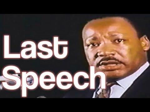 """(BEST QUALITY) Martin Luther King Jr.'s Last Speech: """"I"""