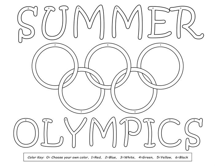 8 printable olympic coloring pages