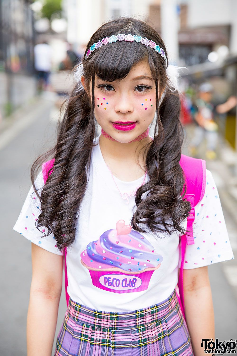 d4d3d4786 Twin Tails & Facial Stickers Tokyo Fashion, Japanese Street Fashion,  Harajuku Fashion, Kawaii