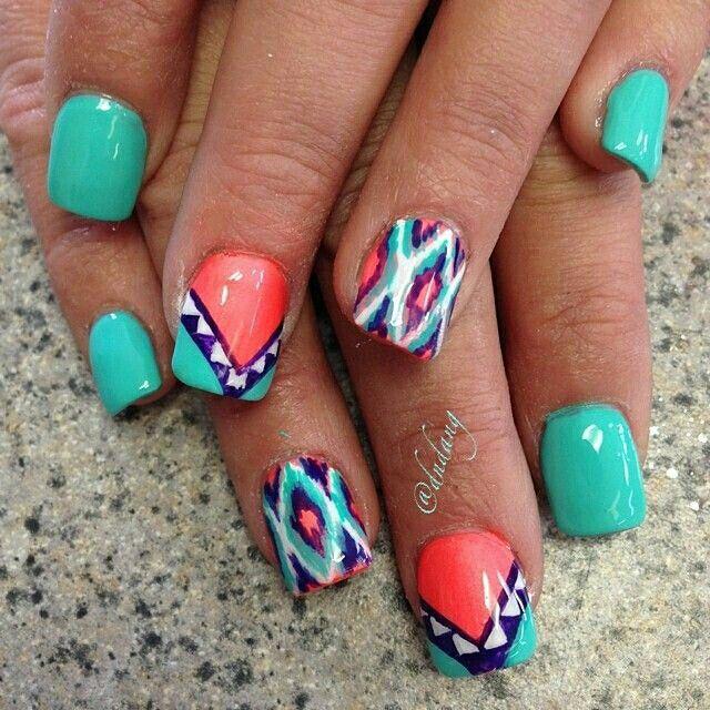 Pin by Ashlie Vaughn on Nails | Bright nail designs, Nails ...