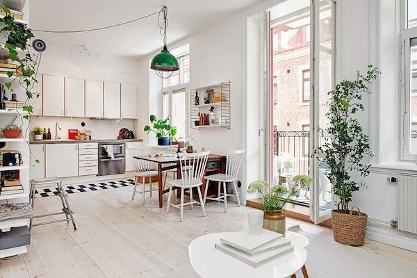 Charming Apartment With Spring Decorating In Sweden