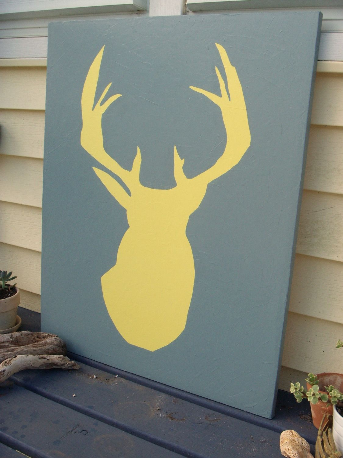 paint deer canvas - Google Search | House | Pinterest | Canvases ...