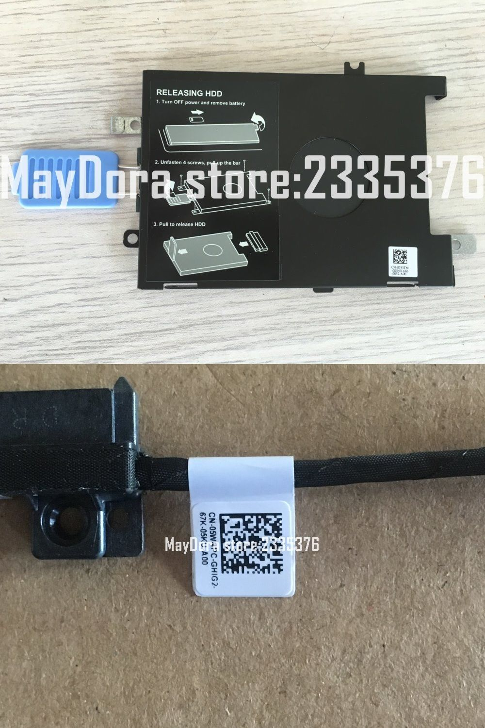 Original New For Dell Precision 7510 Workstation Hard Drive Hdd Caddy Bracket And Cable Dpn