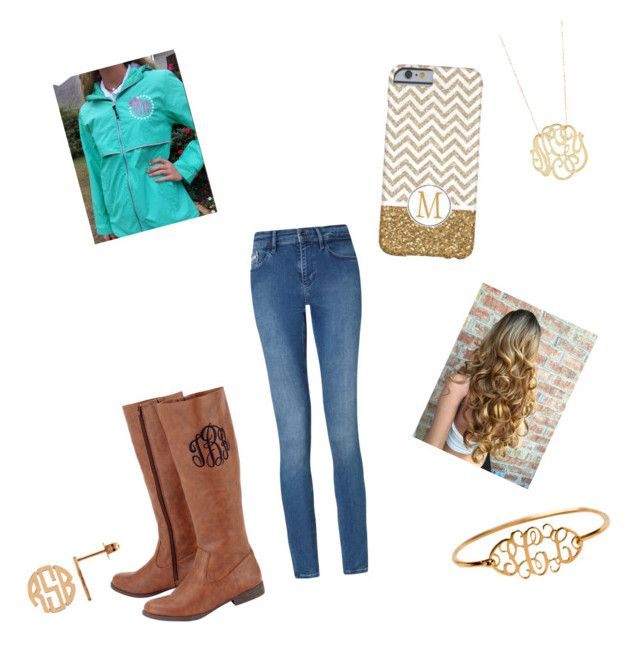 """""""Monogram"""" by lbrittain ❤ liked on Polyvore featuring Ginette NY and Calvin Klein"""