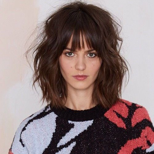 Brunette haircuts with bangs