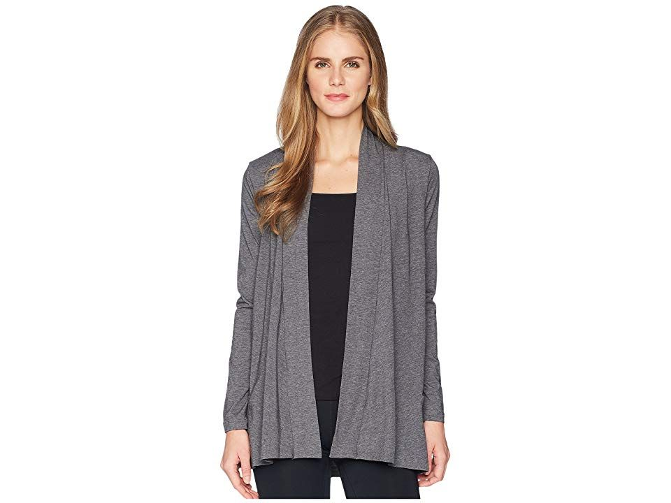 Stonewear Designs Cardigan (Stone Heather) Women's Sweater. Take some time to rejuvenate your soul by stepping out in pure comfort with this comfy Stonewear Design Cardigan. Relaxed fit drapes the body and allows ease of movement. Lightweight stretch design crafted with a soft hand and allover heathered pattern. Open-front styling. Long sleeves. Printed brand marking at nape. Patch hand pockets. Droptail hem. 48% recycled poly #StonewearDesigns #Apparel #Top #Sweater #Beige