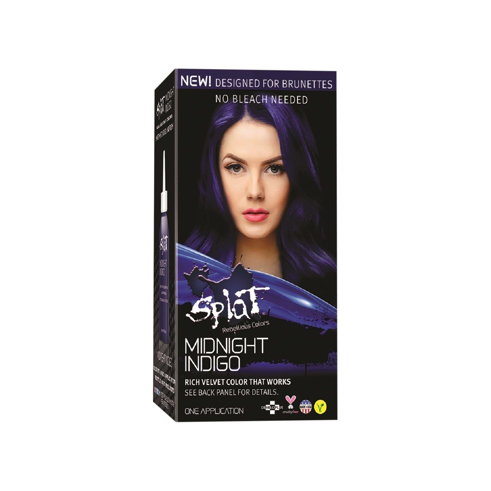 This 10 Hair Color Product Lets Brunettes Go Subtly Blue Without Bleach Splat Hair Dye Hair Color Midnight Hair