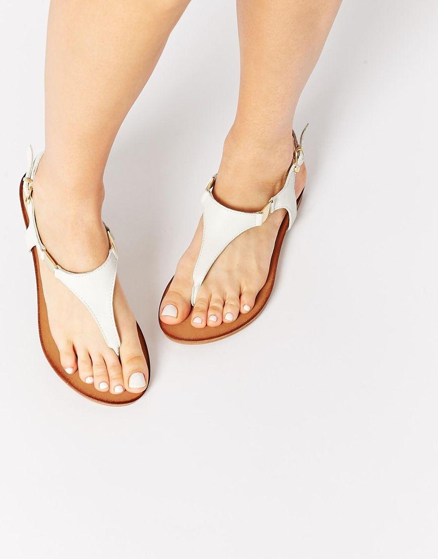 a04c49a7931 ALDO+Bellia+White+Leather+Thong+Flat+Sandals