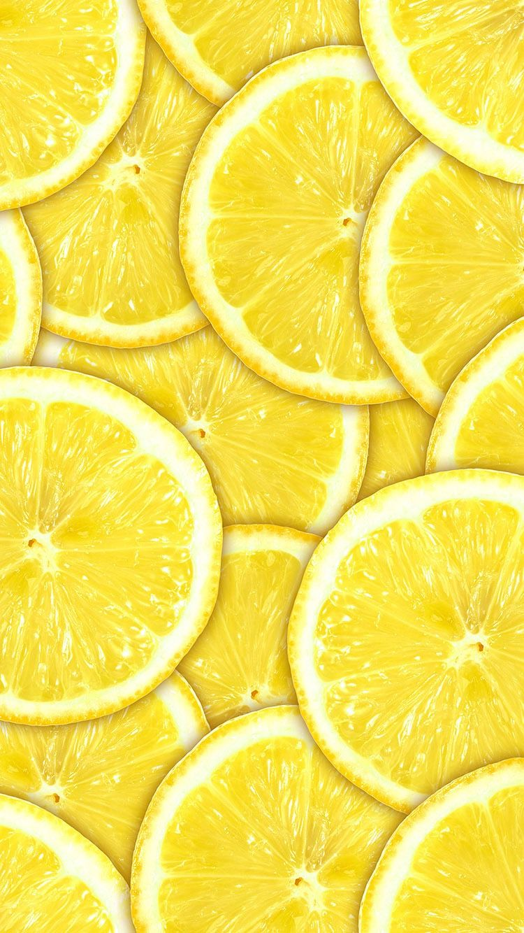 Tap And Get The Free App Cute Yellow Lemon Wallpaper For Iphone 6 From Everpix Yellow Wallpaper Fruit Wallpaper Iphone Wallpaper