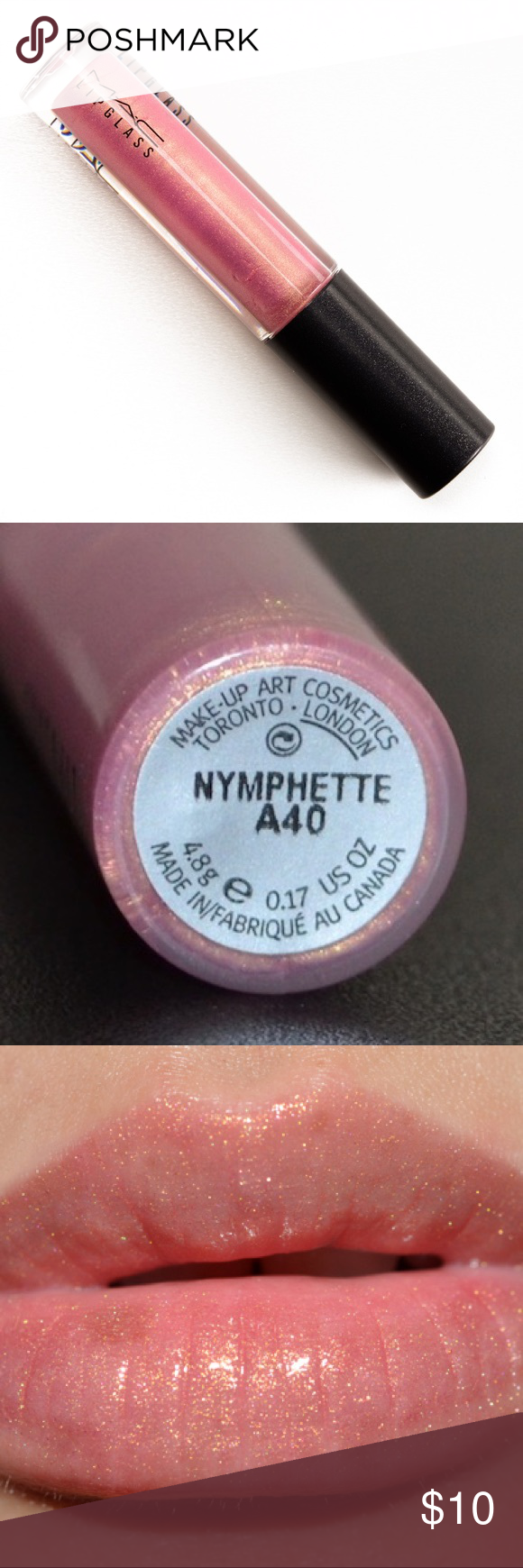 MAC Nymphette Lipglass Review & Swatches