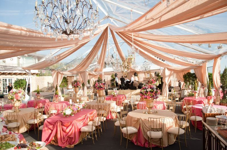 Wedding Party Tent Decoration Ideas Tent Outdoor Pink