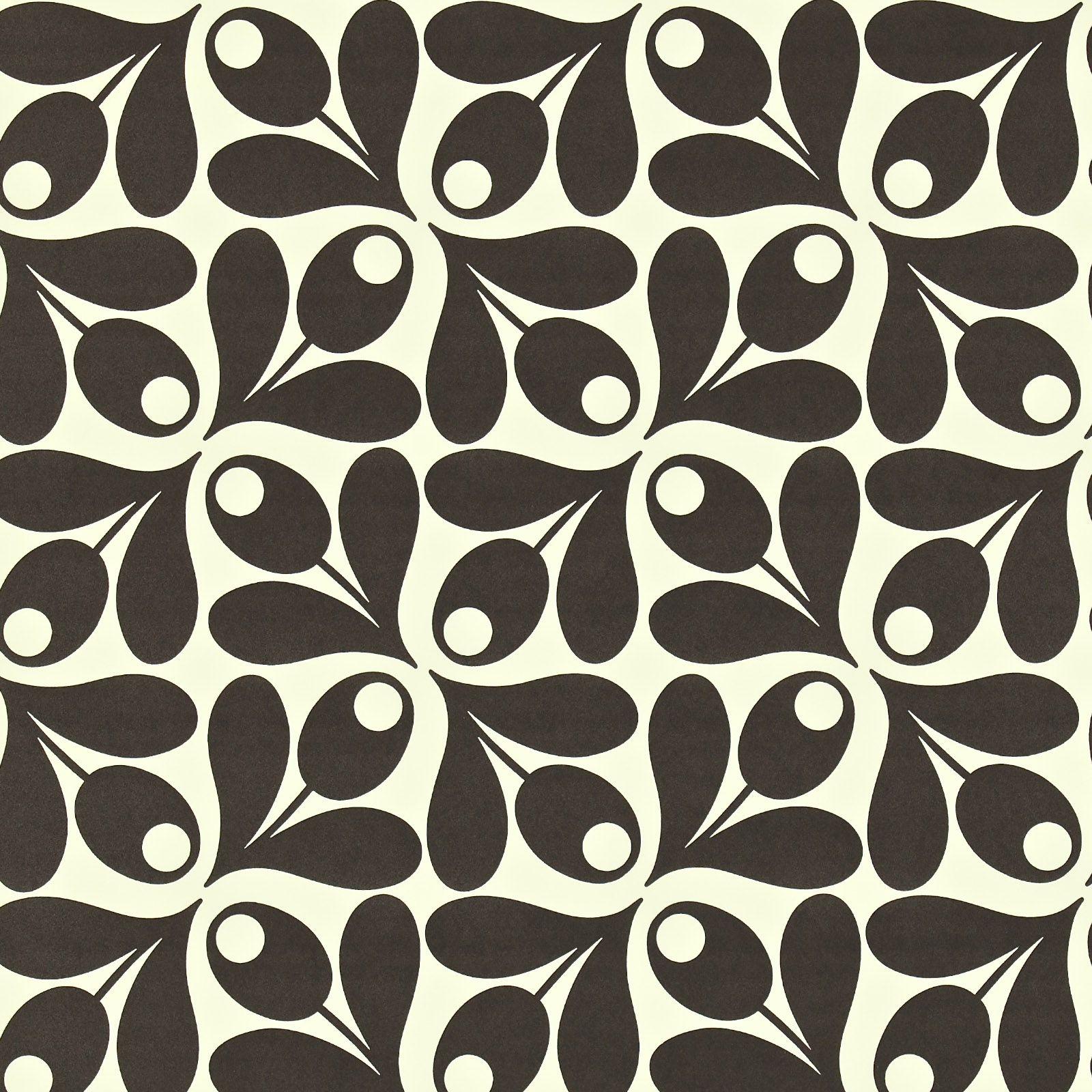 Orla kiely orla kiely small acorn cup print wallpaper hanging