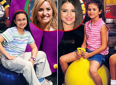 Selena Gomez And Demi Lovatoon Barney And Friends