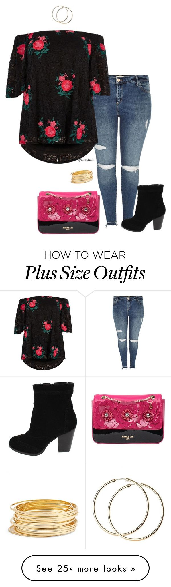 """Gypsy Rose- plus size"" by gchamama on Polyvore featuring River Island and Argento Vivo"