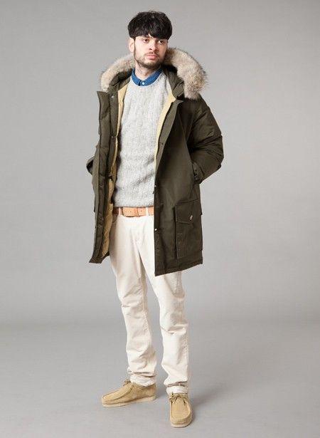 1) Woolrich Arctic Parka (Flint Olive) 2) Our Legacy Suede Jacket ( · Clarks OriginalsButton