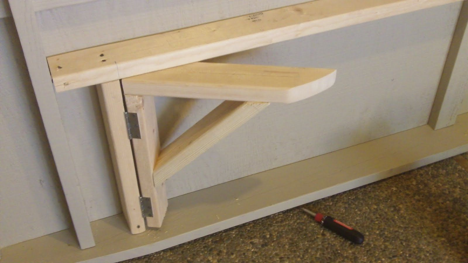 Amazing Folding Garage Workbench 14 Fold Down Garage Work